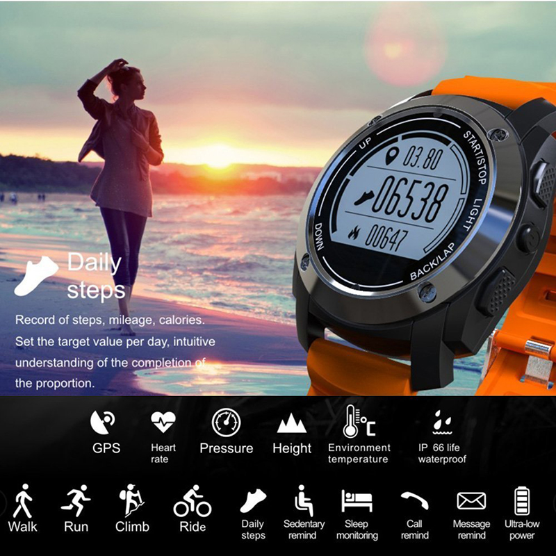 все цены на Smart Watch Wristband KINCO GPS Real-time Outdoor Altimeter Record Heart Rate Monitor Sport Multi-mode Sedentary for IOS/Android онлайн