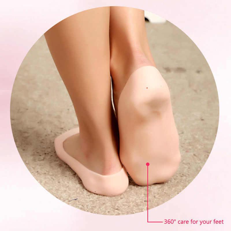 1 Pair Delicato Silicone Gel Idratante Tacco Calzini e Calzettoni Come Incrinato Cura Della Pelle Del Piede Protector Piedi Massaggiatore Foot Pain Relief