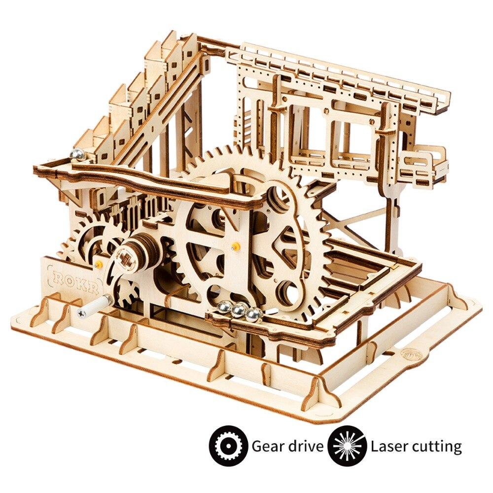 Robotime jouets loisirs 3D en bois Puzzle jeux populaires enfants éducatifs modèle construction Kits marbre course construction ensemble LG502