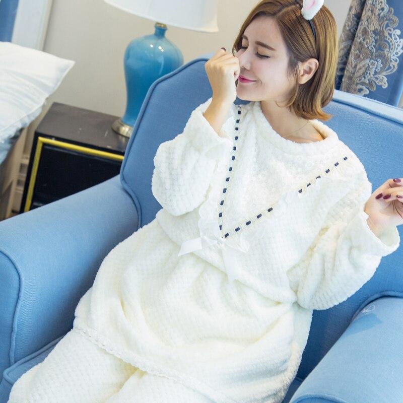882e5c00c ZIXUANER Camisones Pijamas para mujeres Embarazadas Lactancia de Enfermería  de Maternidad de Invierno ropa de Dormir de Algodón Loungewear Ropa Fijada  en ...