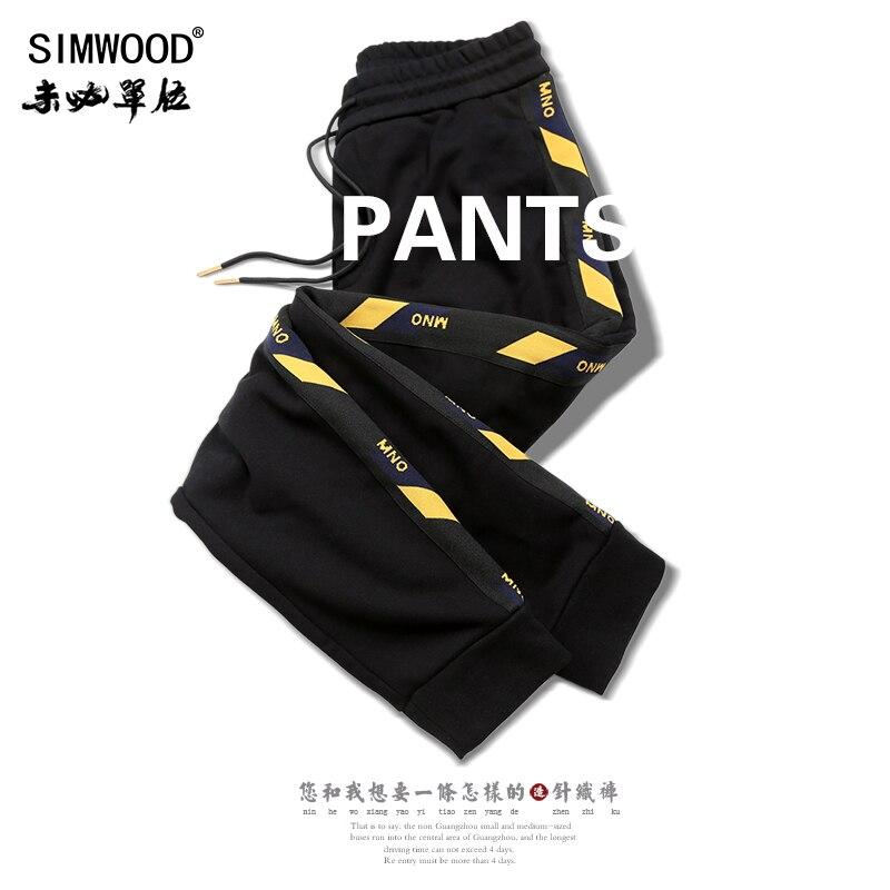 SIMWOOD Brand Sweatpants Men 2019 Winter New Jogger Pants Trousers Men Fashion Drawstring Casual Warm Hip Hop Streetwear 180542