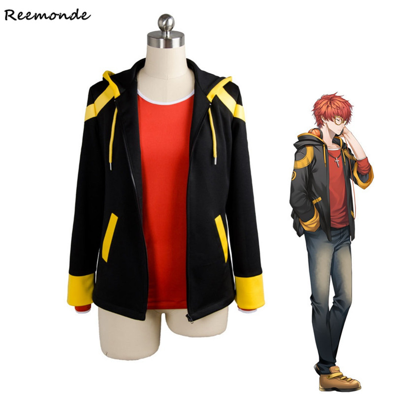 Games Original Mystic Messenger 707 Cosplay Costume EXTREME Saeyoung/Luciel Choi 7 Outfit Hoodies Sweatshirts For Men Boys