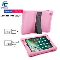 Chinfai Silicon Case Voor Apple iPad 2/3/4 Cover Shockproof Case met Stand Soft Case voor Nieuwe iPad Kids Baby Veilig Case voor iPad4