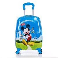 Children's Suitcase Child Trolley case Luggage kids Schoolbags 18 travel Suitcase Wheels 3D Cartoon Travel case kid's Toys box