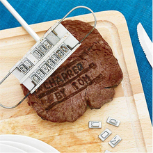 BBQ Meat Branding iron with changeable letters Fun tool Personality Steak Barbecue Accessories cooking set
