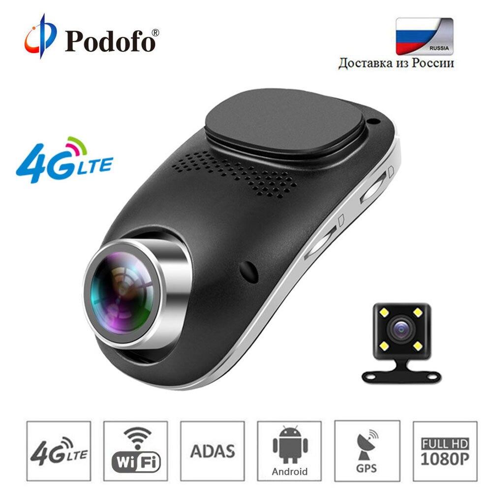 все цены на Podofo 4G Dash Cam Car DVR Wifi GPS Camera Remote Monitor ADAS Smart Android Dual Lens Nigth Vision Dashcam Car DVRs Registrator