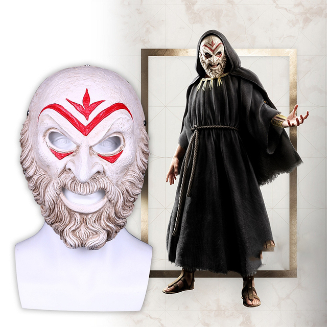 Assassin Creed Odyssey Villain Master Cosplay Resin Mask Halloween Party Mask