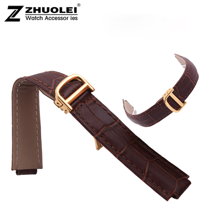 18mm(11mm Watch Lug) High Quality Brown Genuine Leather