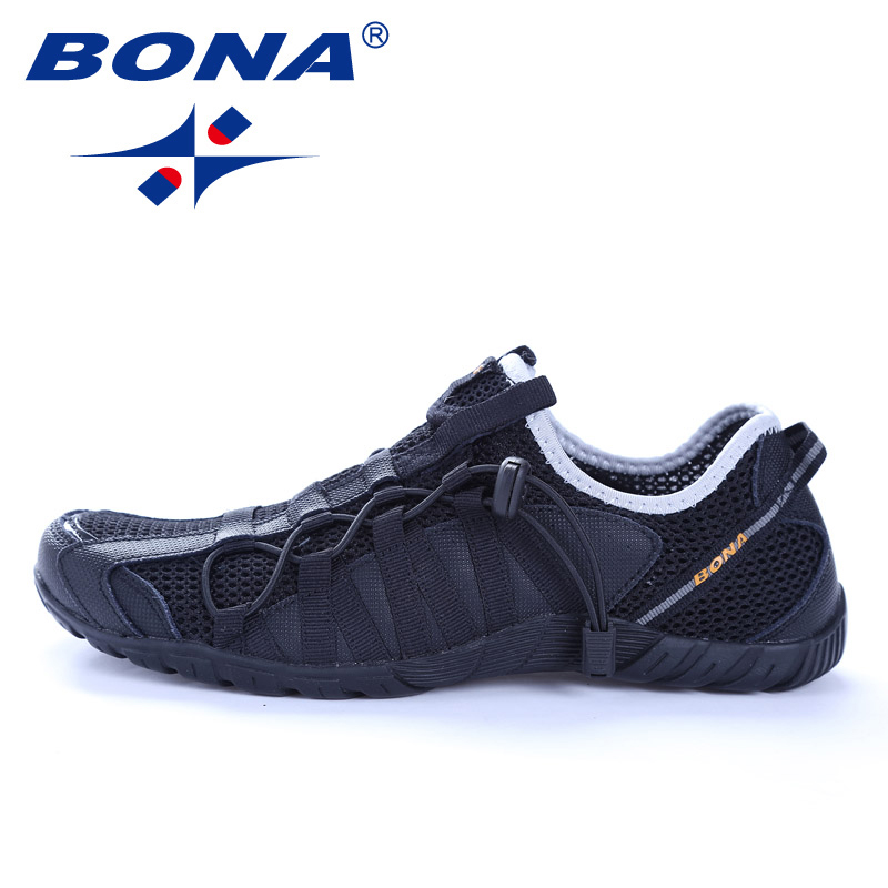 BONA New Popular Style Men Running Shoes Lace Up Athletic Shoes Outdoor Walkng jogging Sneakers Comfortable Fast Free Shipping 3