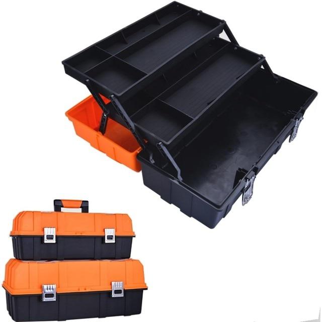 Caixa de plástico de ferramentas multi camada, 17 polegadas, 19 polegadas, caixa de ferramentas, ferragem, caixa de reparo multifuncional casa, carro caso do recipiente da ferramenta