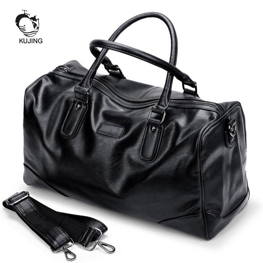 KUJING Fashion Male Bag High-end PU Business Handbag Hot Large-capacity Travel Travel Men Bag Cheap Mens Shoulder Messenger Bag ...