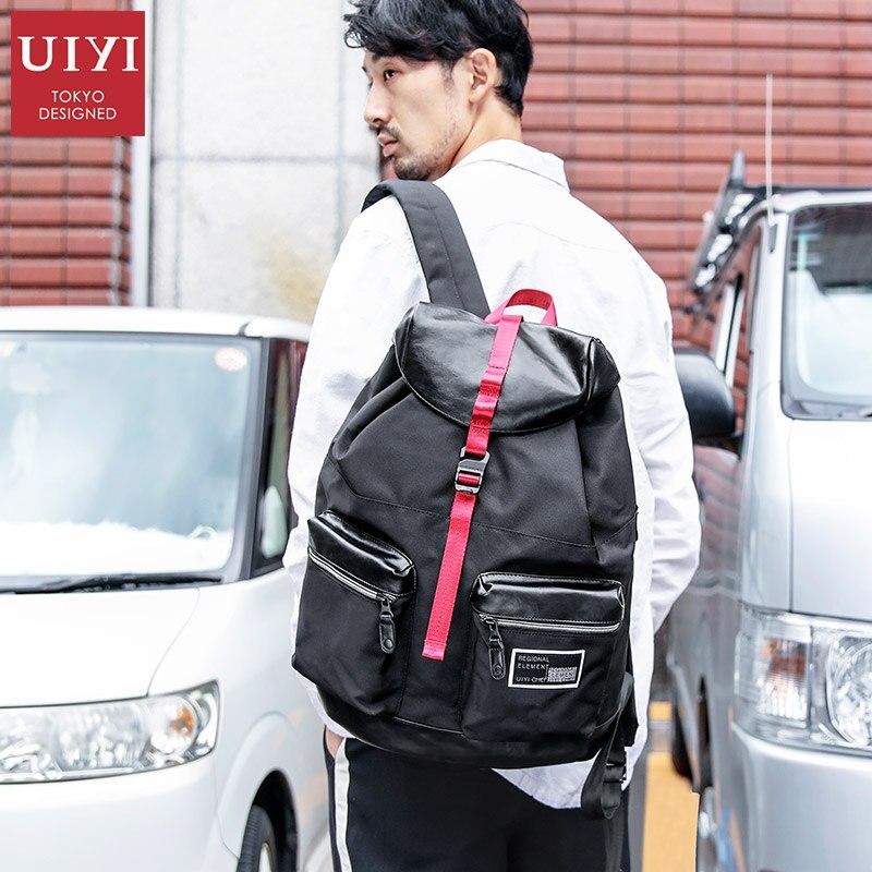 купить UIYI Brand 2018 Men Black Backpack Men 14' Laptop Top quality Teenager Big Capacity Travel pack Antithief School Bags for Male по цене 3535.87 рублей