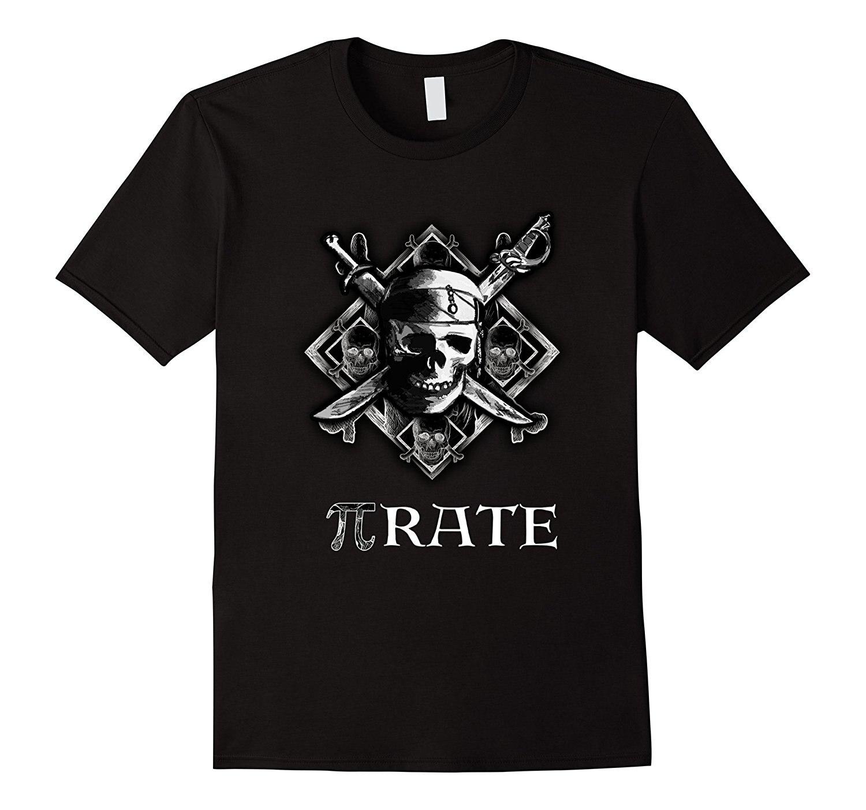 PI rate / Pirate Funny T-Shirt Cool Math Geek Nerd Gift