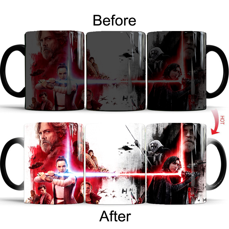 Star Wars Color Changing Mug Movie Figure Heat Sensitive Transforming Cup Magic Mug Beer Milk Tea Cups Gift