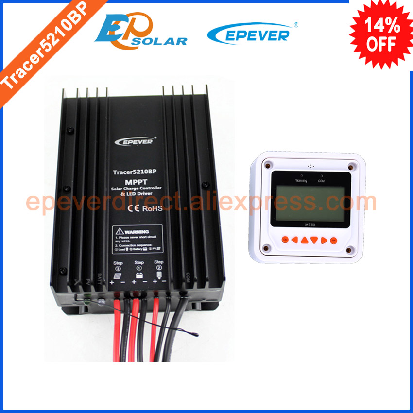 Solar mppt controller EPEVER Charger battery MT50 remote meter Tracer5210BP 20A 20amp 12v 24v auto work waterproof IP67 with white color mt50 remote meter epsolar pwm solar battery charger controller bluetooth function usb cable ls2024b 20a