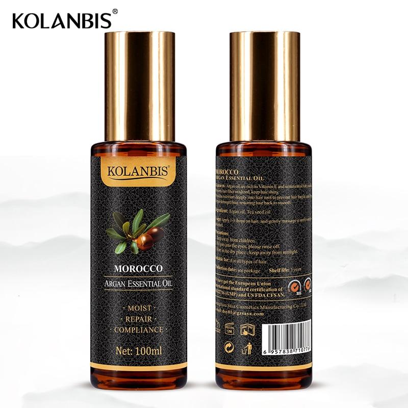 Natural Pure Moroccan Argan Hair Essential Oil Leave In Conditioner For Split Ends Long Hair Treatment Organic Argan Oil Serum 10