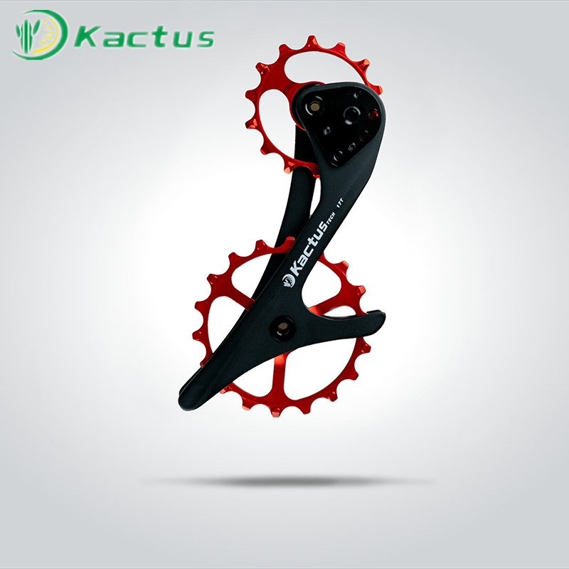 18T Bicycle Oversized Ceramic Pulley Wheel System Carbon Fiber Derailleur Pulley For SHIMANO XT SLX M9000