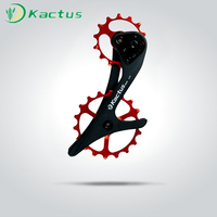 18T Bicycle Oversized Ceramic Pulley Wheel System Carbon Fiber Derailleur Pulley For SHIMANO /XT/SLX M9000/M8000/M7000GS/M6000GS