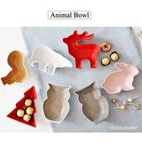 2016 For Christmas Ceramic Bowl Cartoon Creative Tableware Bowl Animal Snack Salad Candy Bowl Procelain Colorful