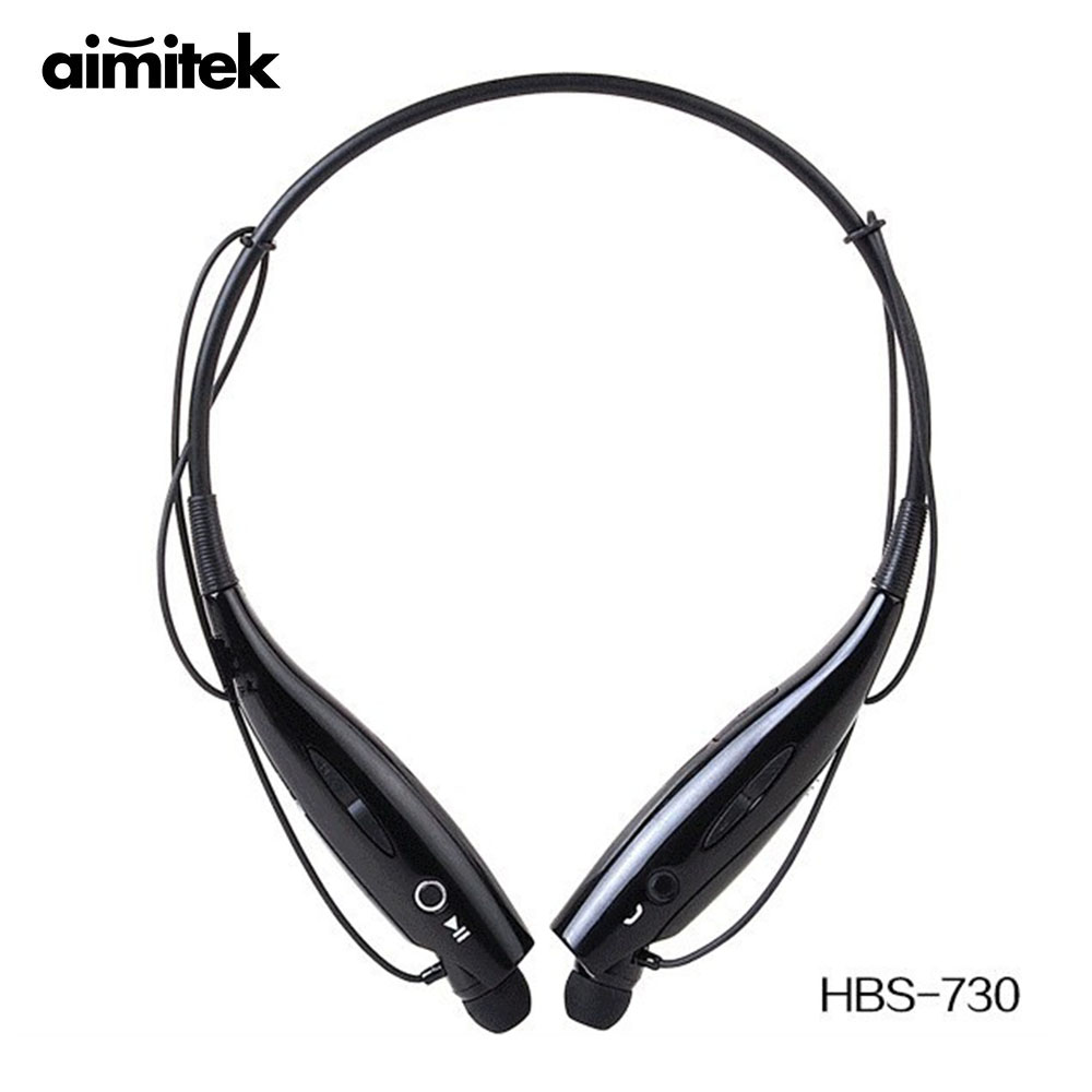 10pcs HBS-730 Neckband Bluetooth Headphones Wireless Earphones Sport Stereo Headsets Handsfree with Microphone for iOS Android bluetooth wireless sport gloves earphones headsets headphones winter warm gloves touch screen handsfree calls mp3 play for phone