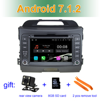 2 GB RAM Android 7.1 Car DVD Player for Kia Sportage 2010 2011 2012 2013 2014 2015 with Radio WiFi Bluetooth GPS