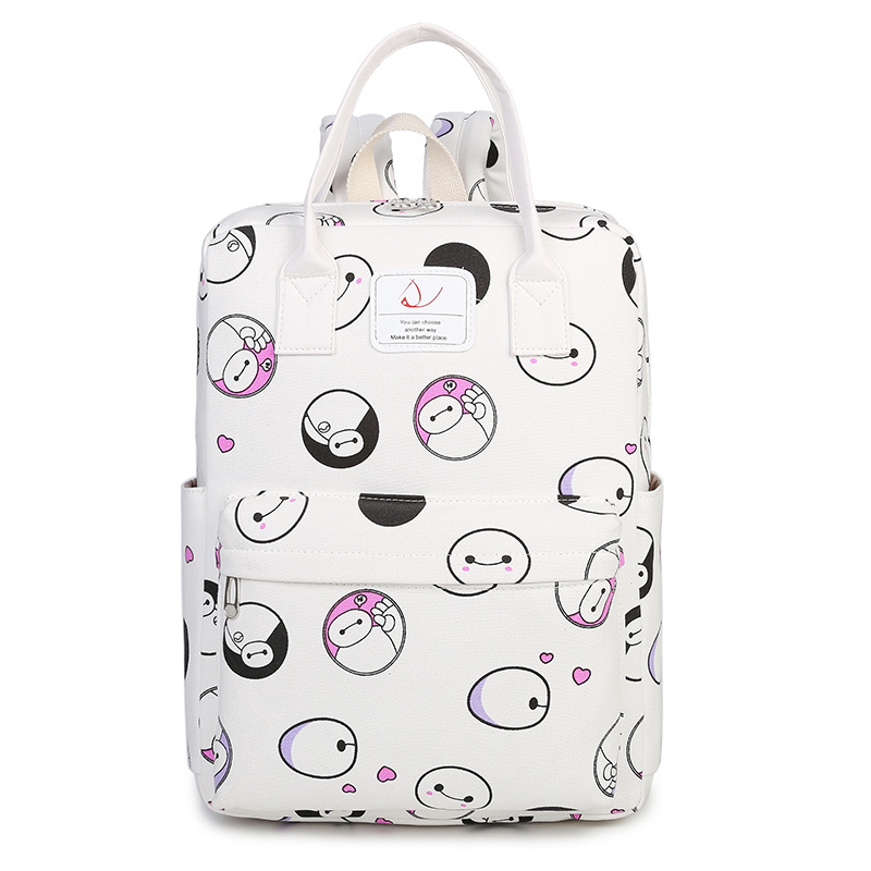 Canvas Printing Backpack Women Cute School Backpacks For Teenage Girls Vintage Laptop Bag Rucksack Bagpack Female