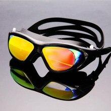 все цены на Funfeliz Adult Anti Fog Swimming Goggles UV Protection Women Men Swim Eyewear Waterproof Silicone Frame Swim Glasses онлайн