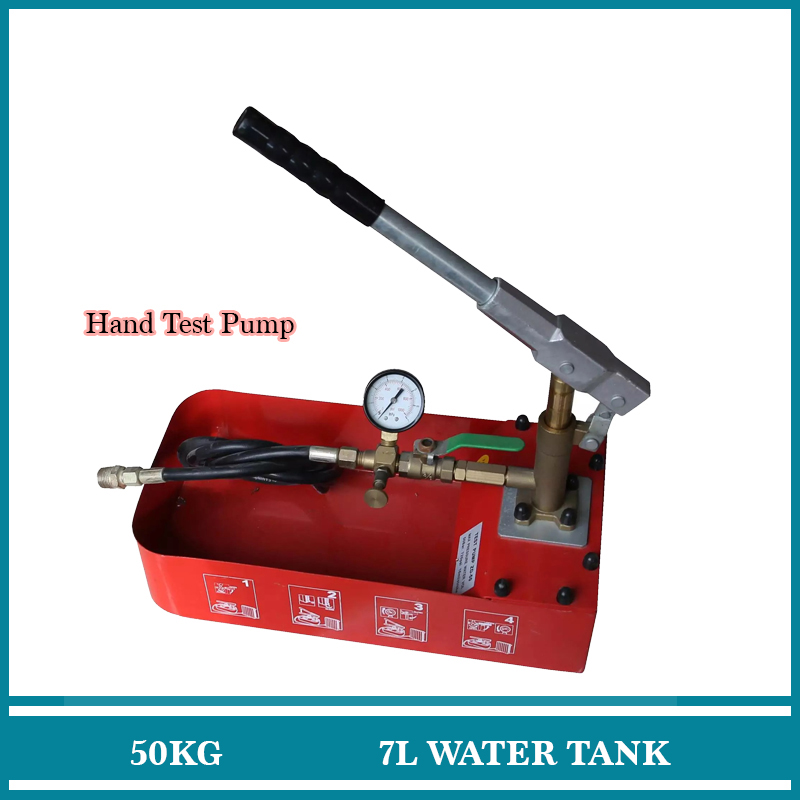 Hot Sale High Quality 50KG Manual Hand Test Pump 7L Water Tank Leakage Detection Machine Durable