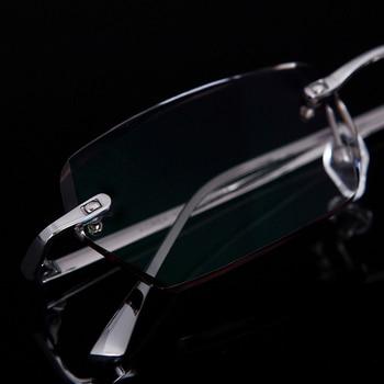 De gama alta gafas oro titanium marcos de anteojos sin montura ...