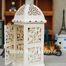 Европейский Винтажный стиль Свадебный Фонарь металлический подсвечник 2 цвета белый или черный украшение дома C1016