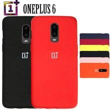 Oneplus 6 T arka kapak kılıfı Tek Artı 6 T Yumuşak Sıvı Silikon telefon kılıfı ile Logo Tam Koruyucu Funda 1 + 6 T Telefon Darbe...