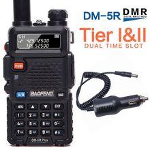 Baofeng Walkie Talkie Digital DM 5R PLUS Tier1 Tier2 radio bidireccional, repetidor de radio de banda Dual VHF/UHF, DM 5R plus + cargador de coche