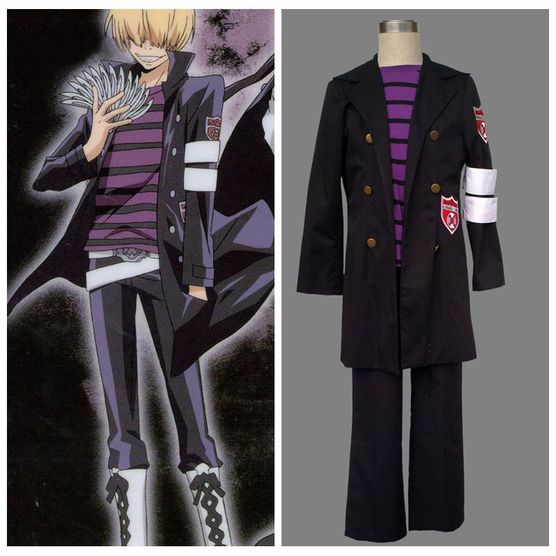 Ainclu Free Shipping Katekyo Hitman Reborn Belphegor Anime Cosplay Brand Costumes Customize for plus size adults and kid