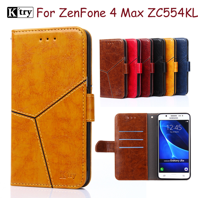 official photos 61ab7 91dae US $6.15 14% OFF|K'try Brand Flip Cover For ASUS Zenfone 4 ZE554KL Case PU  Leather Card Slot Stand Phone Cases For ZenFone 4 Max ZC554KL-in Wallet ...