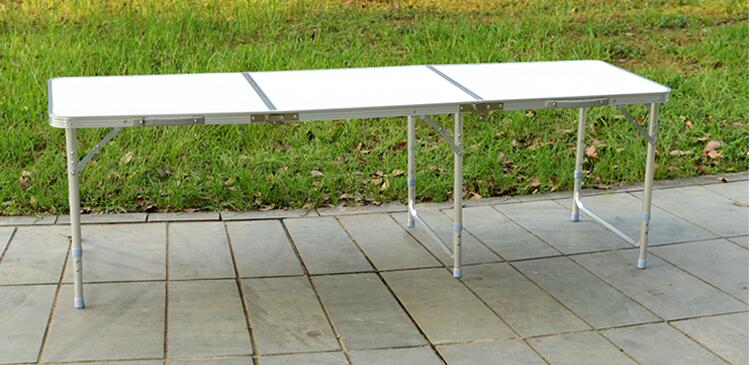 цена на 180*60*70CM Aluminum Alloy Folding Table Portable Outdoor Barbecue Table Camping Table Picnic Desk