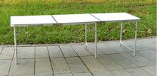180*60*70CM Aluminum Alloy Folding Table Portable Outdoor Barbecue Table Camping Table Picnic Desk