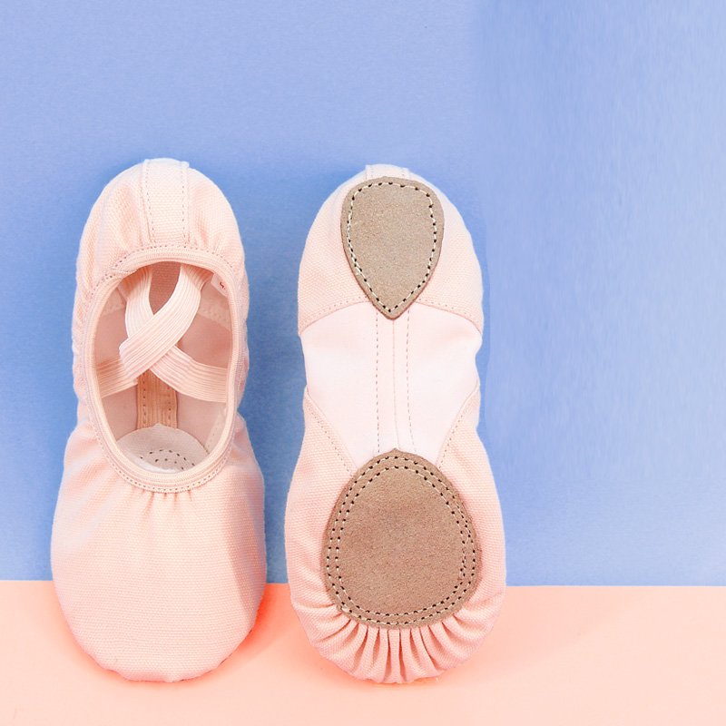 Stretch Ballet Dance Shoes Women Split Soft Sole Canvas Ballet Slippers With Elastic Mesh