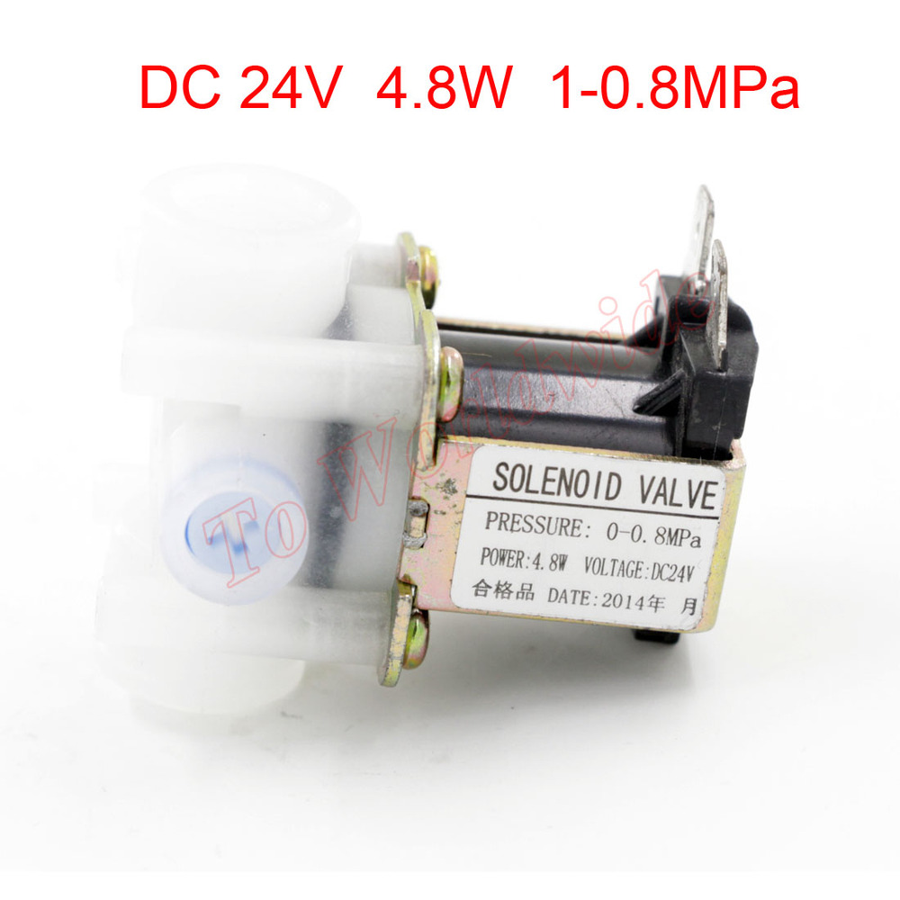 DC 24V 4.8W 0-0.8MPa Auto Flush Solenoid Valve for Water Dispenser zndiy bry 24v 1 4 inlet feed water solenoid valve for water purifier dispenser white black