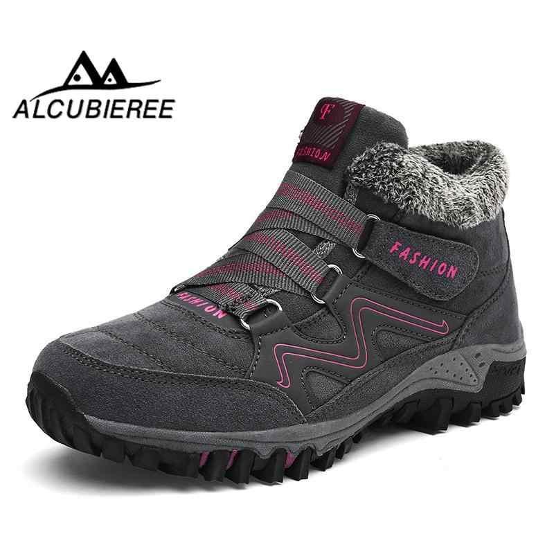 Kış kış çizmeler kadınlar için sıcak su geçirmez kar botları peluş çizmeler sıcak süet çizmeler kış bootswomen2018 ayakkabı kadın peluş