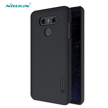 for LG G6 Case Nillkin Super Frosted Shield PC Hard Cases Phone Protection Cover With Screen Protector