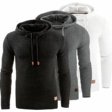 Casual Plaid hoodies 2018 Mens Unique Korean Fashion Long Sleeve Hoodies High-End Leisure Slim fit Sweatshirt men