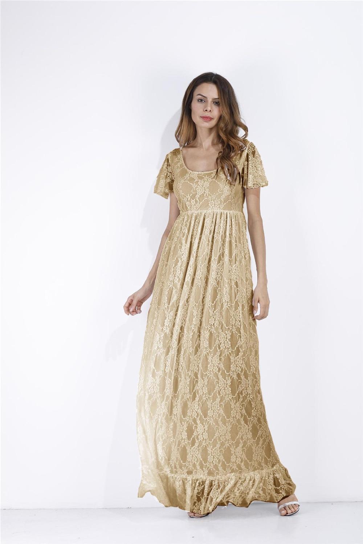 edd729d5b77 ... 2018 Plus Size Maternity Dresses For Photo Shoot Fashion Lace Maxi  Maternity Gown Dress Women Pregnancy ...