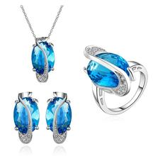 INALIS 2017 Made with swarovski elements Crystals Wedding Jewelry Sets For Women Bridal free shipping(China)