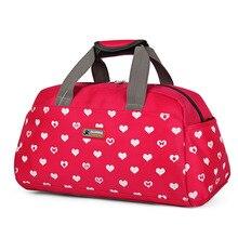 2018 Красный Nylon Водонепроницаемый Travel Duffle Красная сумочка для женщин Fitnes Sportting Designer Женская сумочка