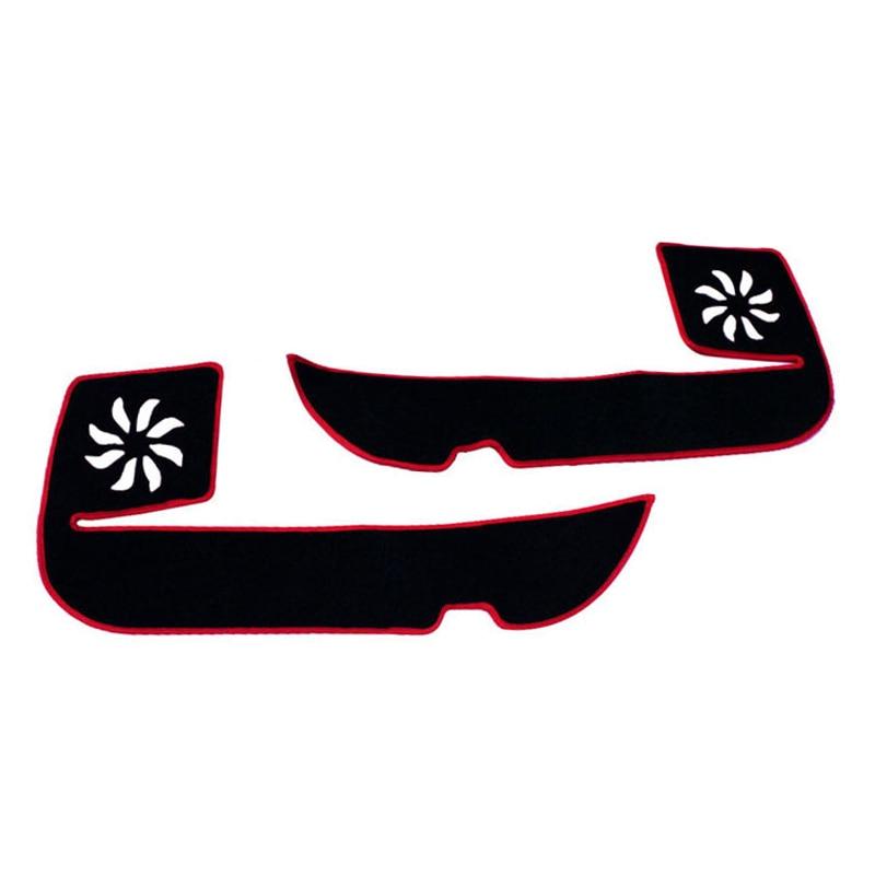 2 цвета автомобиль-Стайлинг протектор боковой кромки защиты площадки защищены против Kick коврики Обложка для Honda Odyssey 2015 -2017