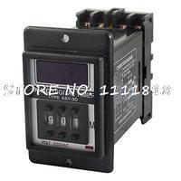 ASY 3D AC 220V 2NO 2NC 8P 999Min 999 Minutes 3 Digit Display Timer Relay w Base