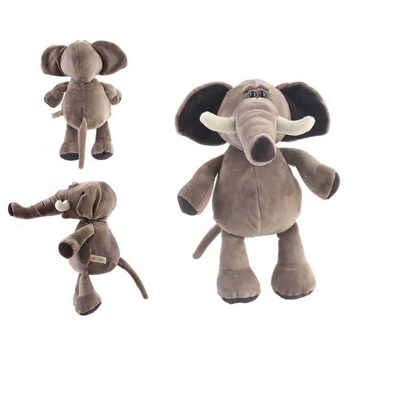 Милый мультяшный чучело 25 см игрушка для сна плюшевый слон Тигр лиса Лев Жираф Обезьяна Собака Шарпей енот Леопард подарок растут