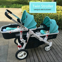 Twin Stroller Suitable for big babies and little babies Baby Carriage For Twins Prams For Newborns Pram Twins Lightweight