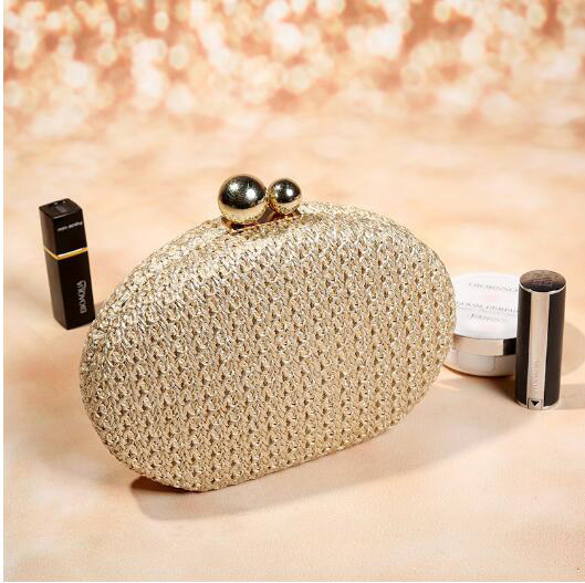 2018 PP straw woven evening bag new fashion lady's clutch bag high quality shoulder bag small chain party bag цена 2017
