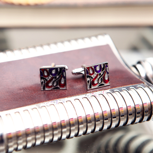 Kflk Jewelry Shirt Cufflink Mens Cuff Links Designer French Button High Red Wedding Male